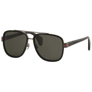 New Gucci Black Unisex Sunglasses